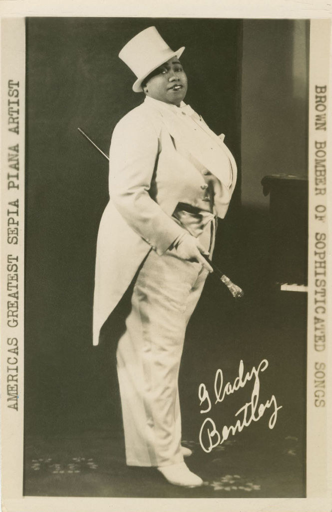 Gladys Bentley in a signed portrait