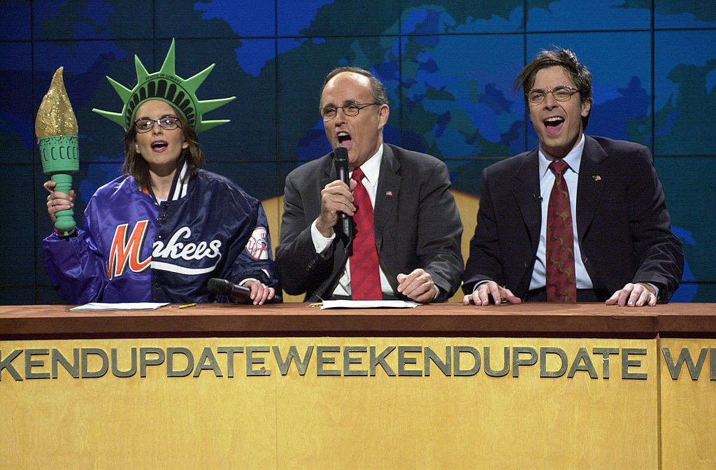 Tina Fey, Rudy Giuliani, and Jimmy Fallon on Weekend Update