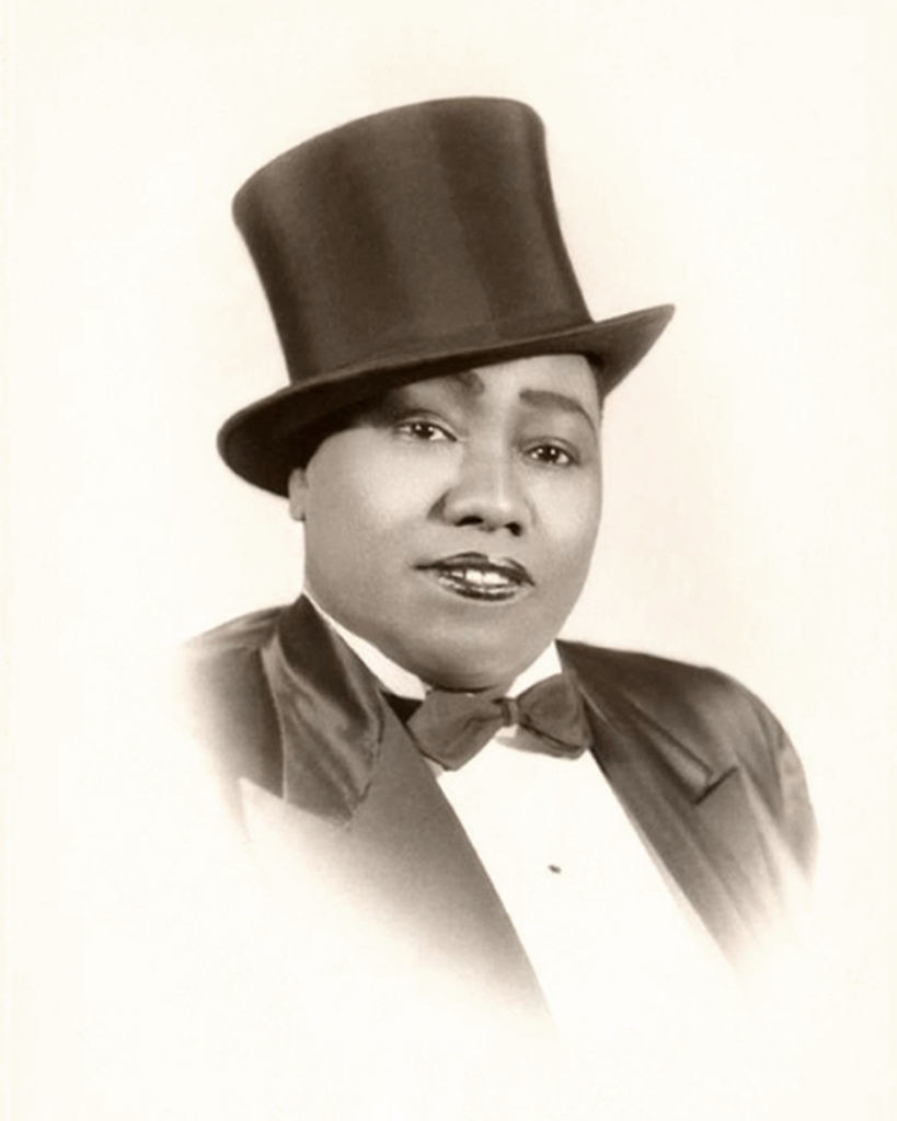 a portrait of Bentley wearing her top hat