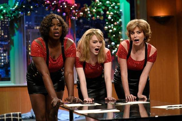 Emma Stone hosting Saturday Night Live