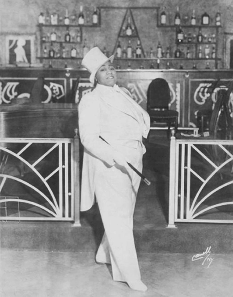 Bentley in one of the clubs where she performed