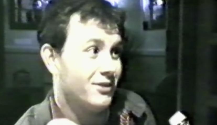 Mark Ashton being interviewed