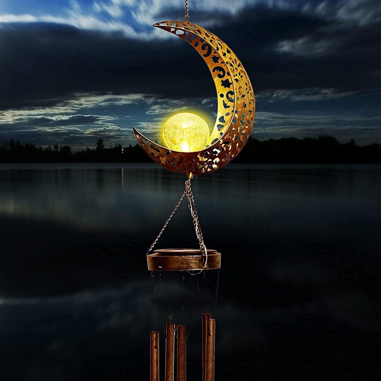 Lampara solar campanitas de viento