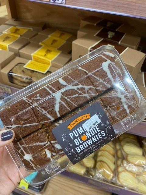 Pumpkin Blondie Brownies