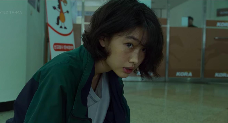 Sae-byeok looking anxious