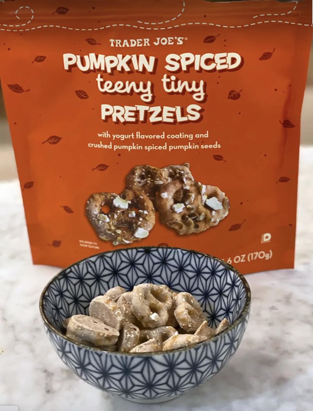 Pumpkin Spiced Teeny Tiny Pretzels