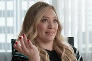 """image of hilary duff looking like """"of course"""""""