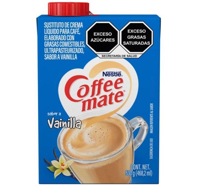 Foto de caja de suplemento de leche para café