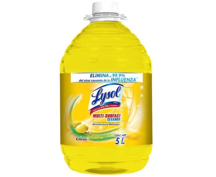 Foto de liquido de la marca lysol para desinfectar pisos