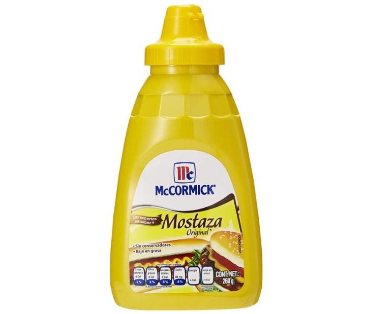 Foto de botella de mostaza de la marca McCormick