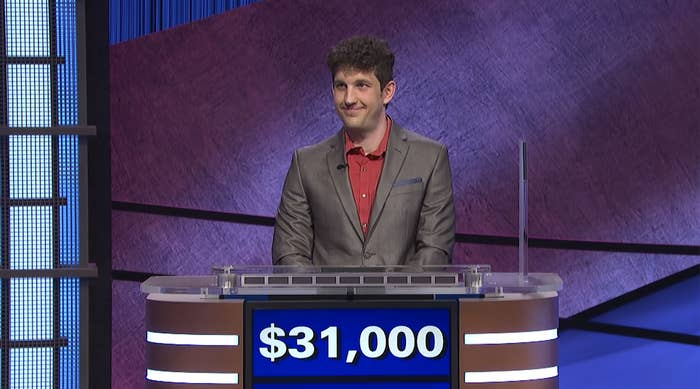 Matt Amodio with $31,000 during his first game