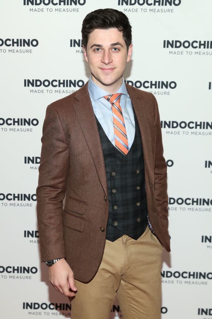 David Henrie attends the Indochino Red Carpet launch party in a suit