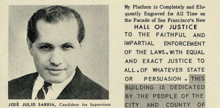 Sarria in the newspaper as a candidate