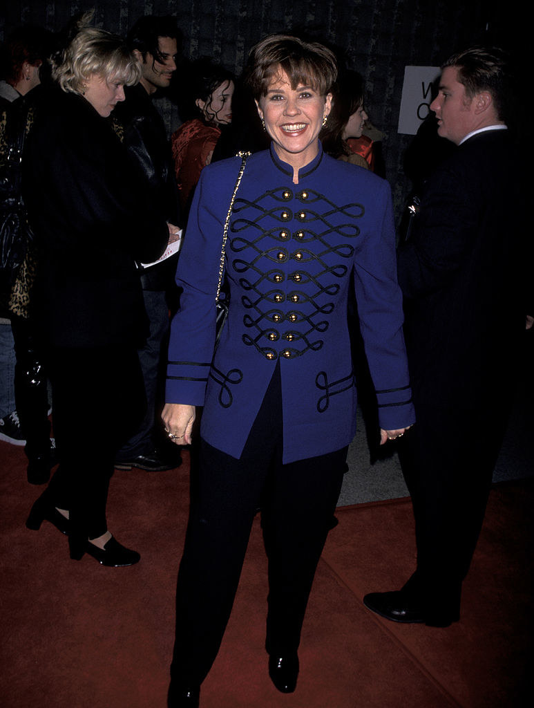 Linda Blairarriving at the Scream world premiere red carpet