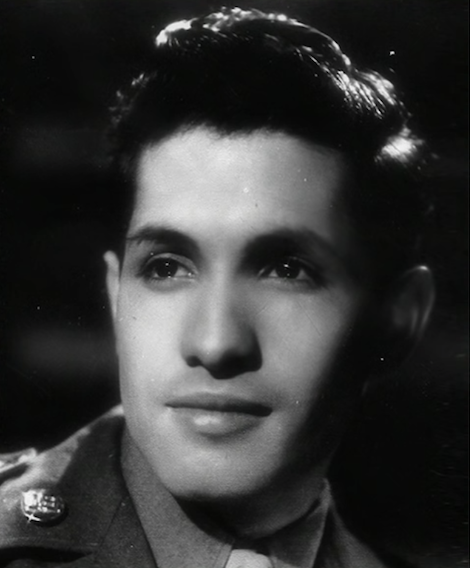 Sarria as a young man in the army