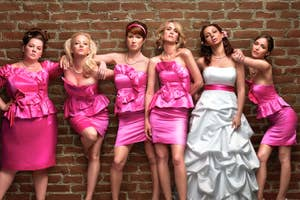 The Bridesmaids and bride Lillian from the movie Bridesmaids