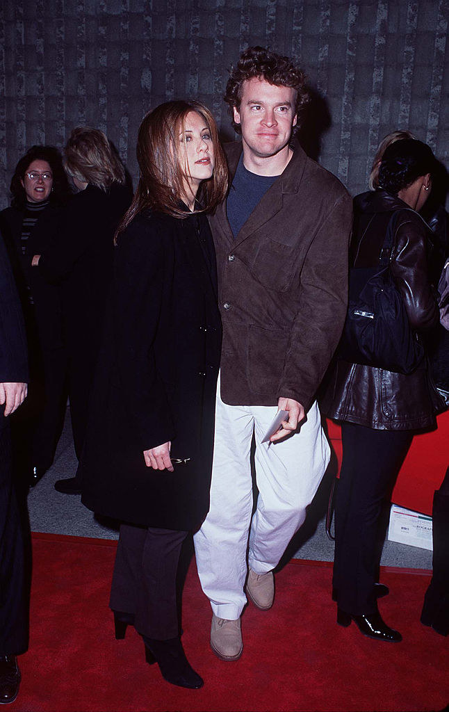 Jennifer Aniston and Tate Donovanarriving at the Scream world premiere red carpet