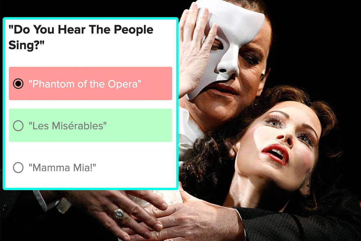 Please Tell Me You're Able To Match These Broadway Songs To The Musicals They're From