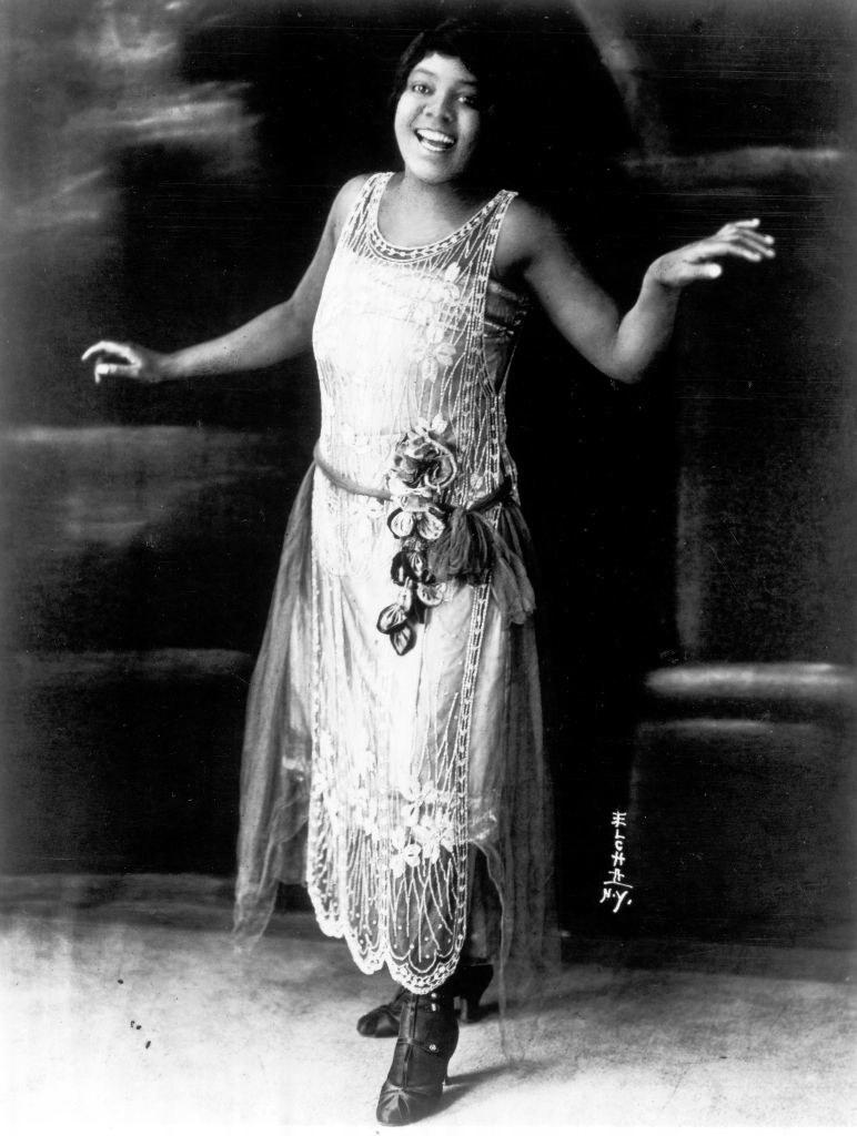 Bessie Smith in a flapper dress