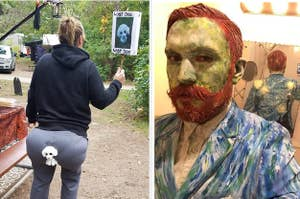 A man's costume makes him look like a Van Gogh self portrait come to life