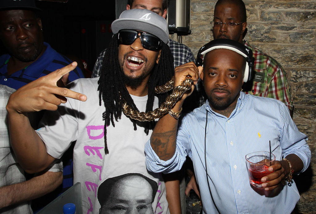 Lil Jon (L) and Jermaine Dupri attend Pavan's birthday celebration