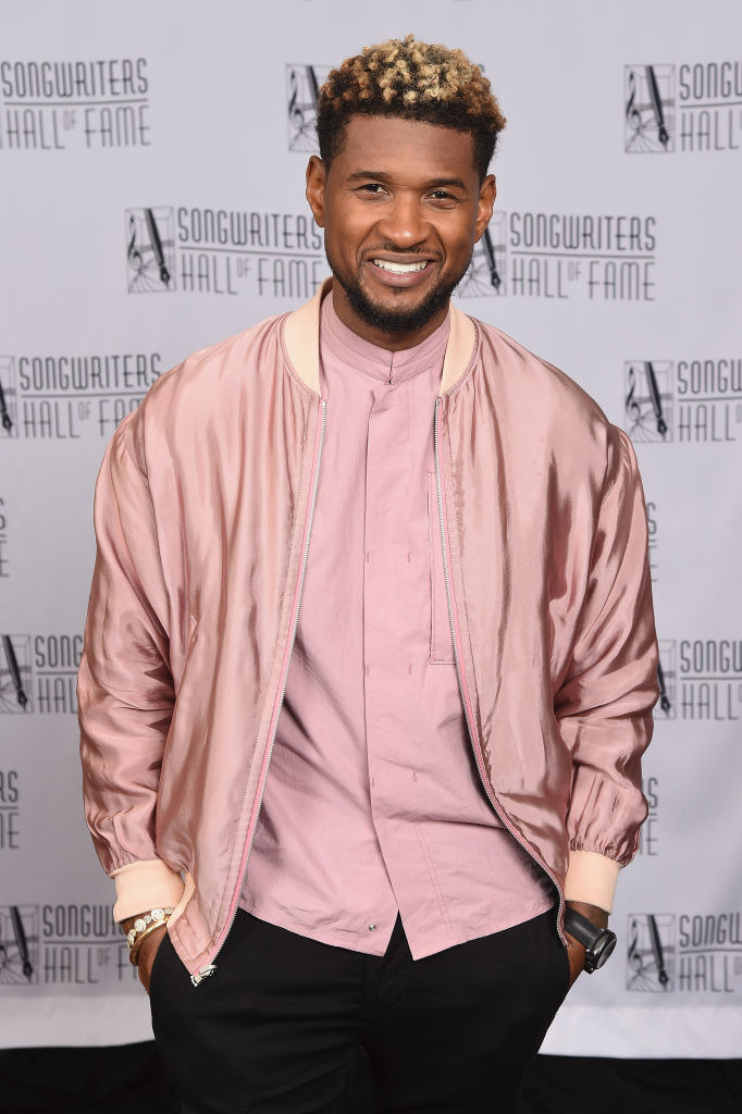 Usher poses backstage at the Songwriters Hall Of Fame 48th Annual Induction and Awards