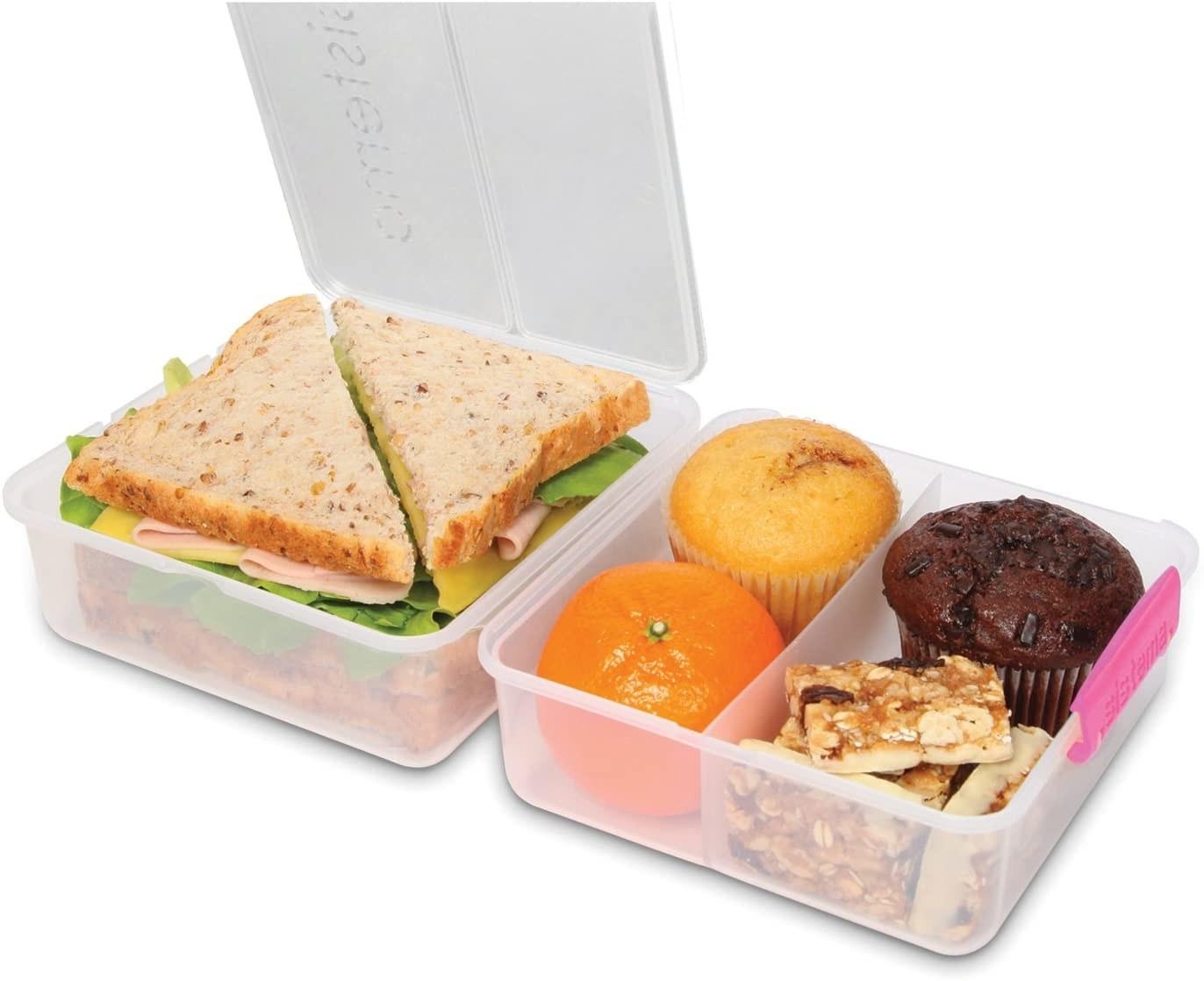 Contenedor de alimentos para almuerzo con tres divisiones