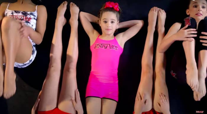 Mackenzie performing in a dance routine