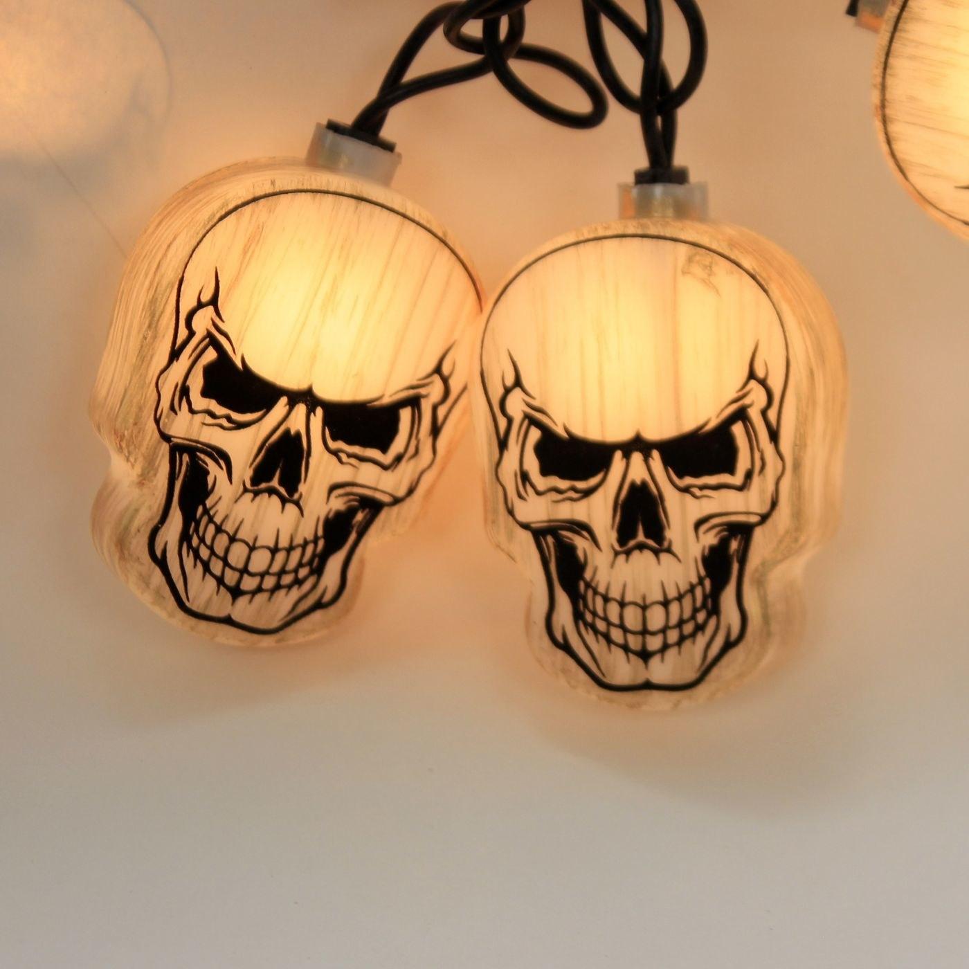 A string of skull lights