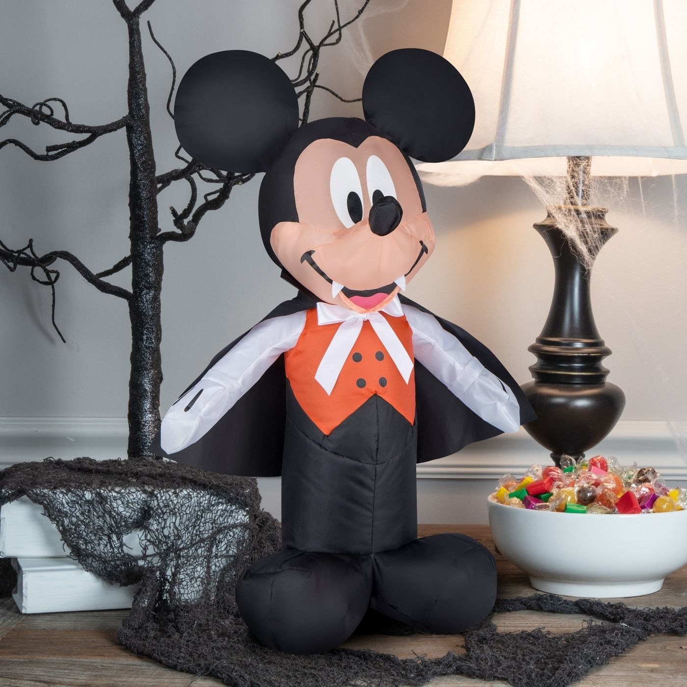 An inflatable mickey vampire