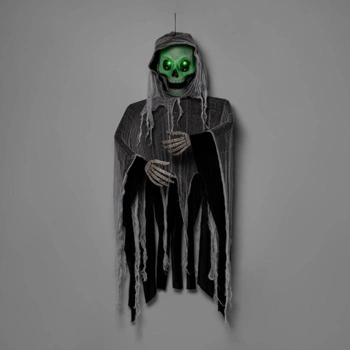 A floating skeleton