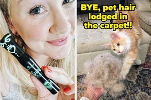 mascara and cat hair