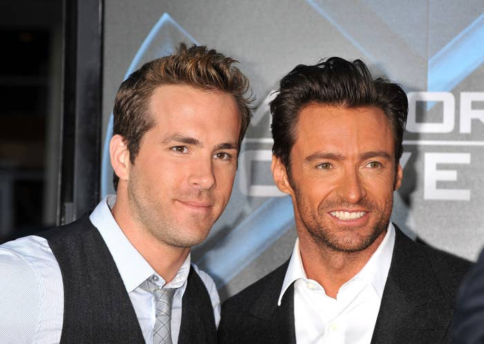 Ryan and Hugh posing at an event together