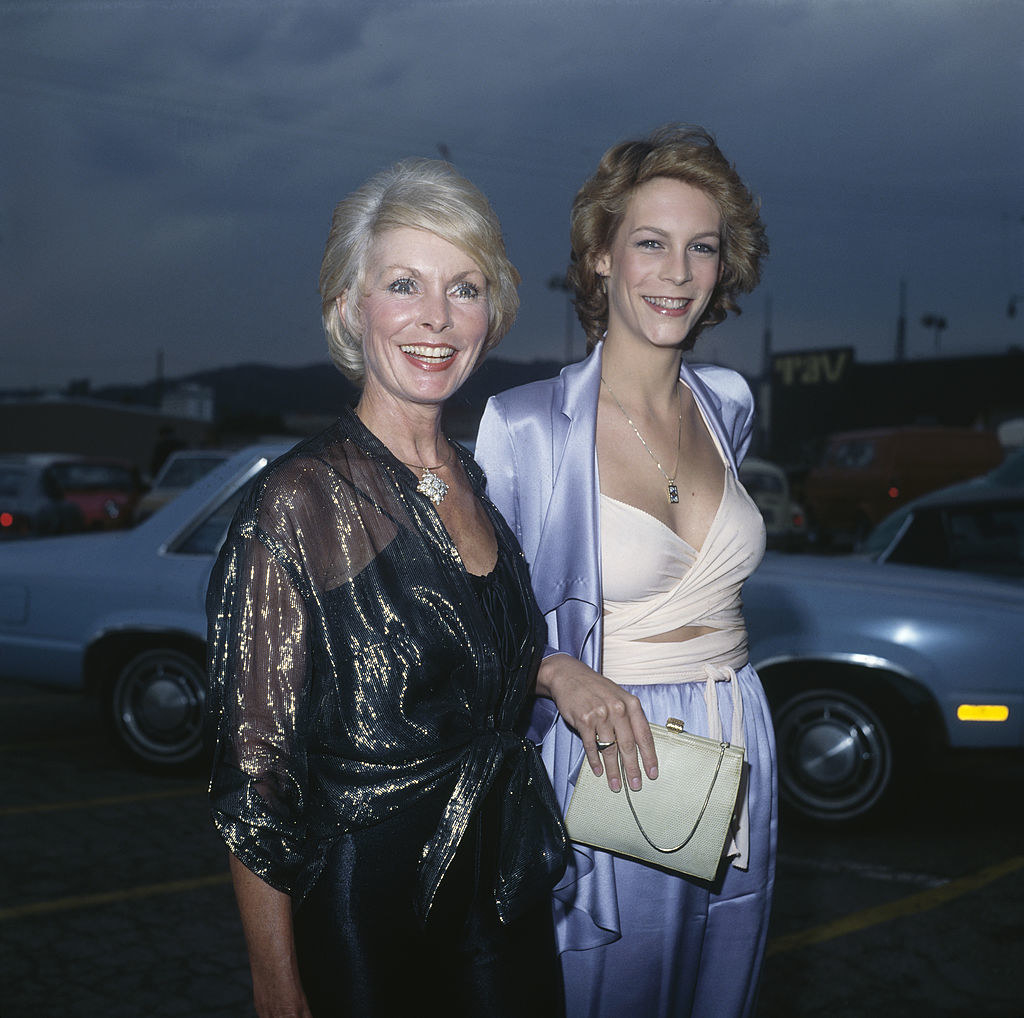 Janet Leigh and Jamie Lee Curtis smiling