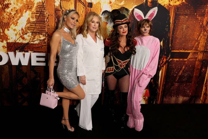 Dorit Kemsley, Kathy Hilton, Kyle Richards, and Lisa Rinna of Real Housewives of Beverly Hills dressed up for the party