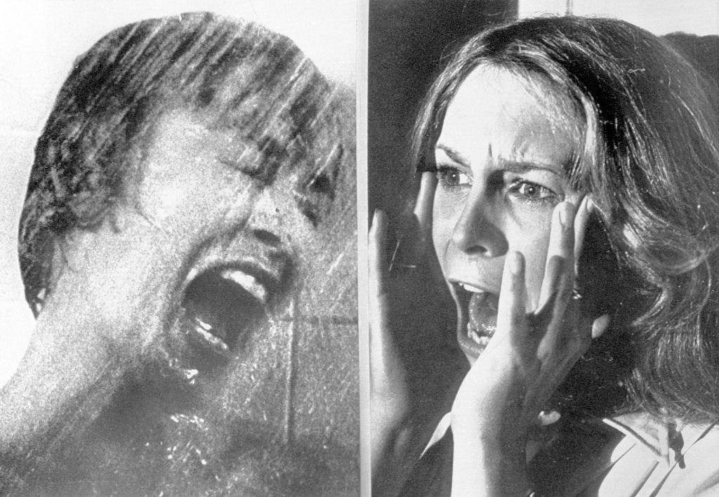 A side-by-side of Janet Lee and Jamie Lee screaming