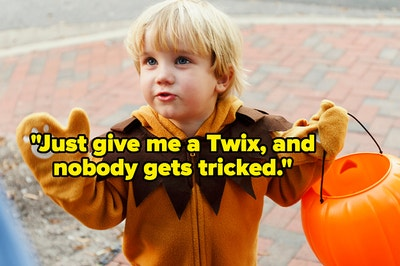 """""""just give me a twix, and nobody gets tricked"""" over a little kid trick or treating"""