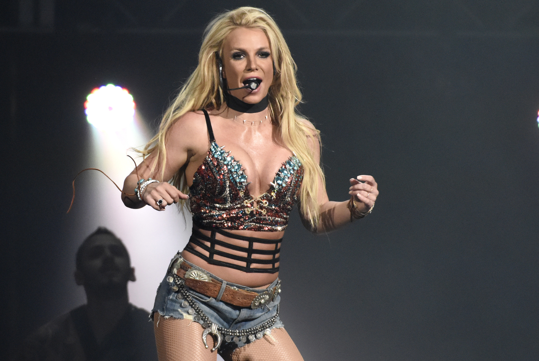 Britney singing on stage