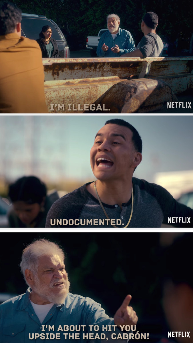 """Pop says he illegal to which someone else corrects him and says """"undocumented"""""""