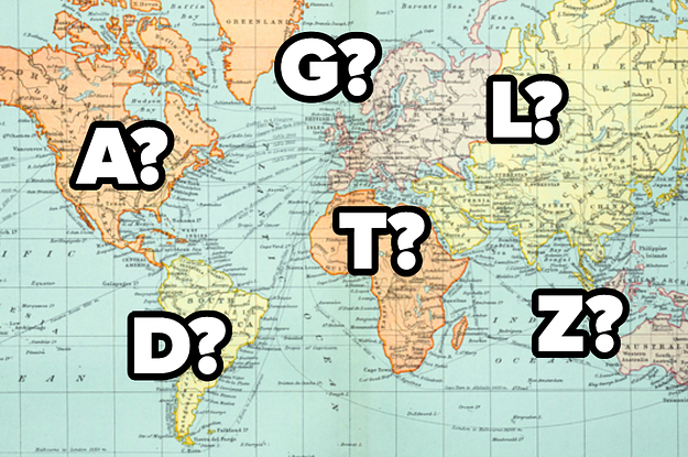 If You're A Geography Nerd, See If You Can Name Each Country Just By Letter They Start With