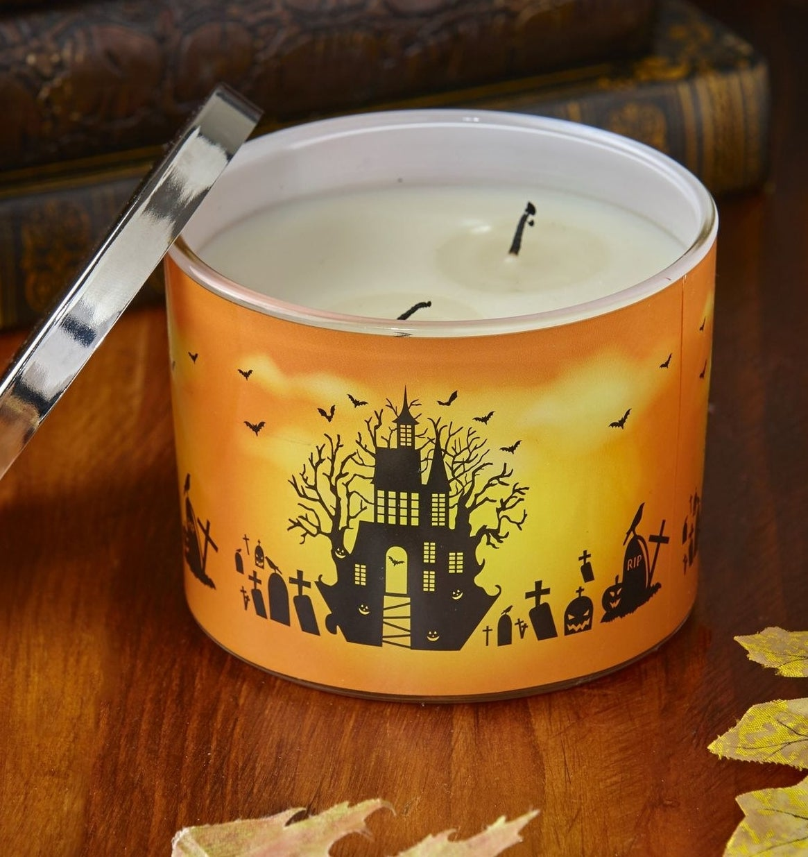 A halloween candle