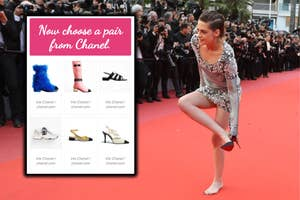 Kristen Stewart wearing Louboutins
