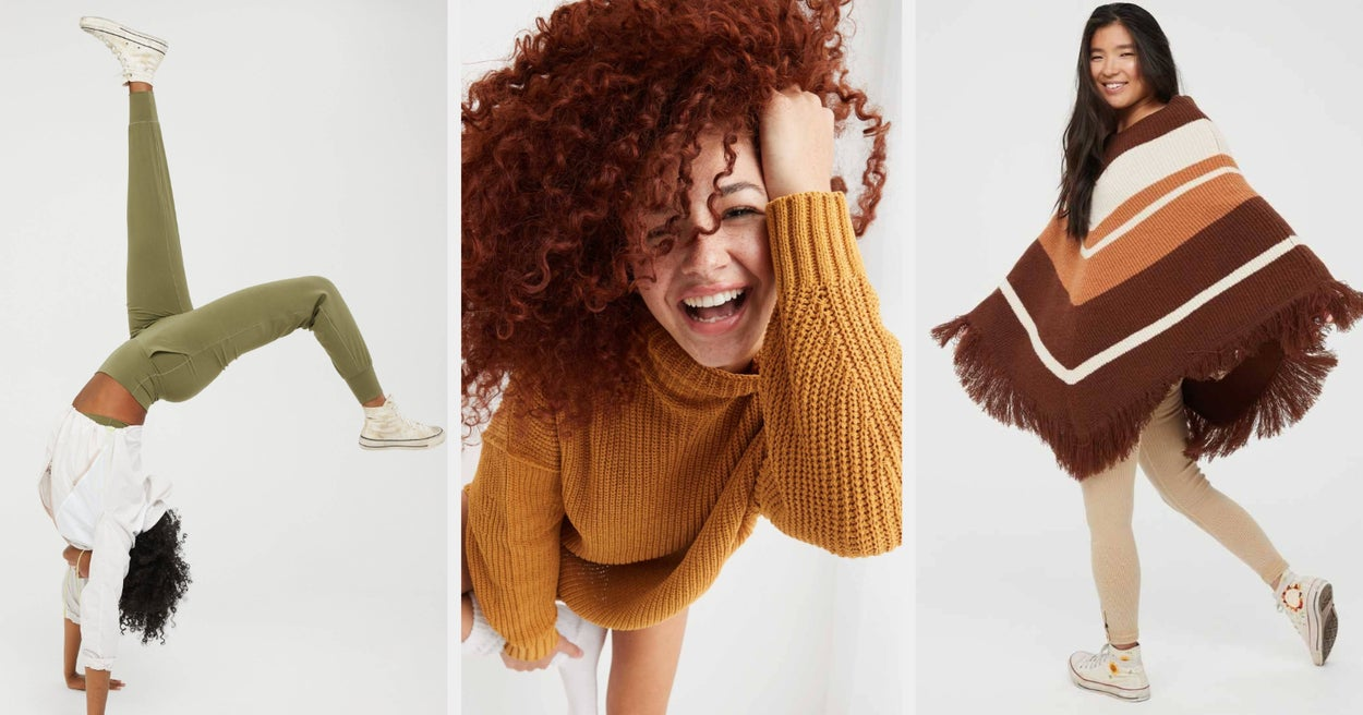 If You're Trying To Stay Comfy All Fall, Aerie Is Offering 30% Off Sweaters, Tees, Joggers, And Bras