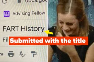 """A paper was submitted with the title """"fart history"""""""