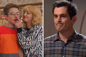"""Adam and Beverly from """"The Goldbergs;"""" Phil Dunphy from """"Modern Family"""""""