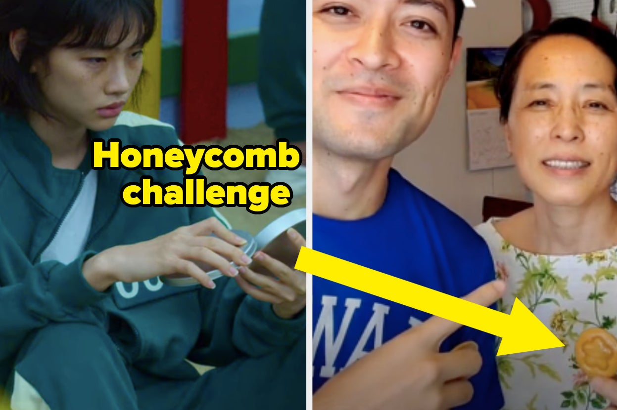 """TikTok Is Obsessed With The Honeycomb Challenge From """"Squid Game,"""" But It's Actually A Real Korean Children's Game"""