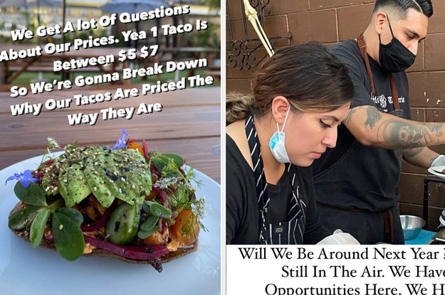 This Taco Shop Is Sharing Exactly Why Their Prices Have Increased Because Of The Pandemic, And I'm Asking You Very Nicely To Examine This List