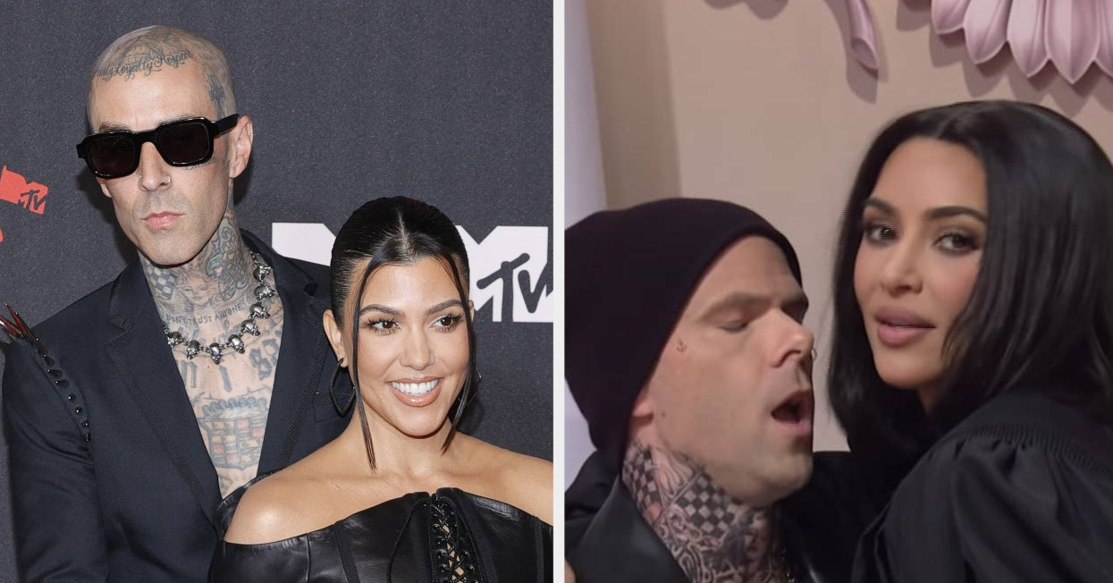 """Kourtney Kardashian And Travis Barker Got Very Cozy Backstage At """"SNL,"""" A Week After Kim Kardashian Roasted Them On The Show About Their PDA"""