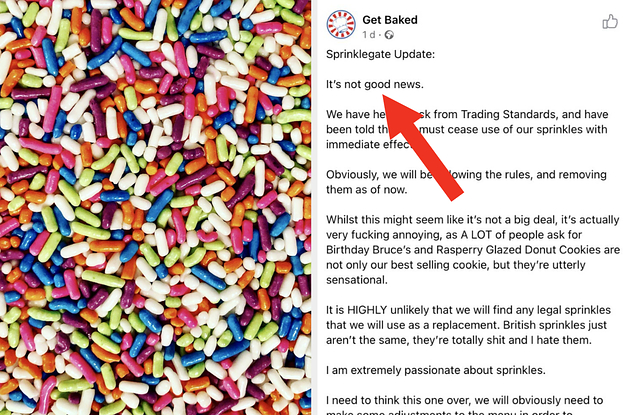 More Details Are Coming Out About The British Baker Caught Using Illegal American Sprinkles, And I Can't Stop Laughing About The Entire Saga