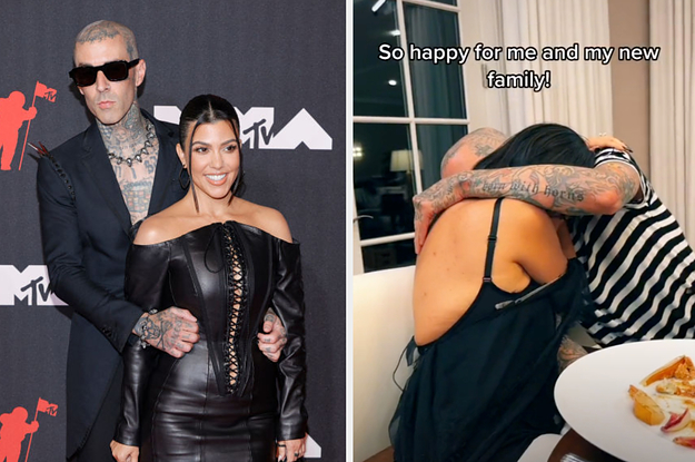 Travis Barker's Son Posted This TikTok From His Dad And Kourtney Kardashian's Engagement Dinner, And It Feels Like We Were All Actually There???